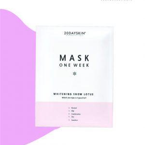 mask 20dayskin whitening snow lotus dưỡng trắng da