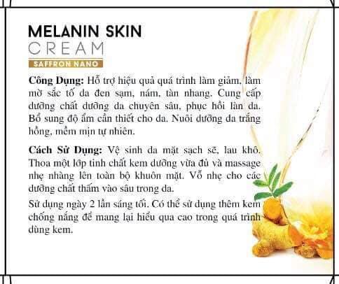 Công Dụng Của Saffron Nano Melanin Skin