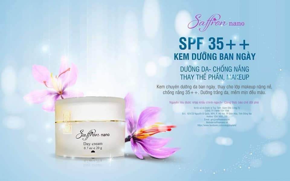 Kem Dưỡng Da Ban Ngày - Saffron Nano Day Cream
