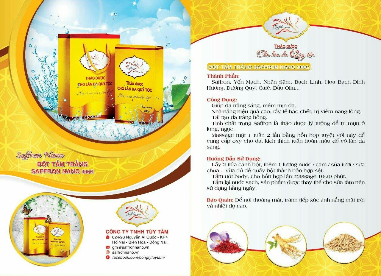 Saffron Nano Thảo Dược Cho Làn Da Quý Tộc