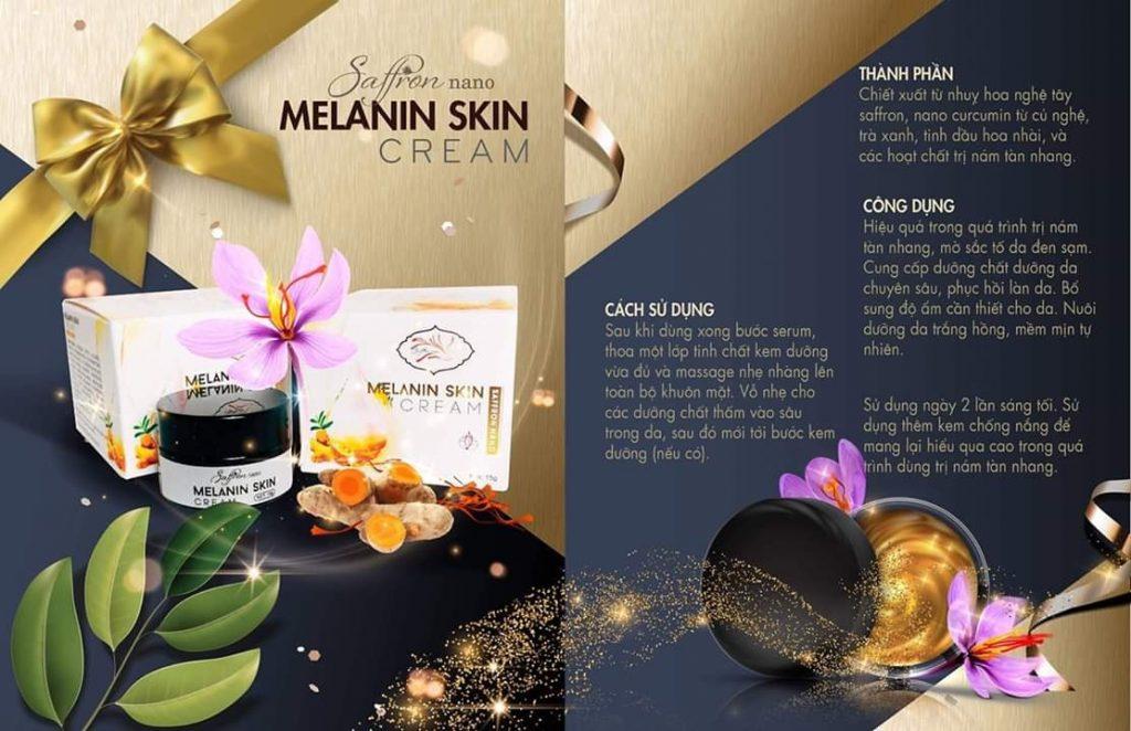 Thành Phần Saffron Nano Melanin Skin