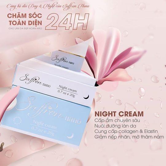 kem dưỡng da ban đêm saffron nano night cream
