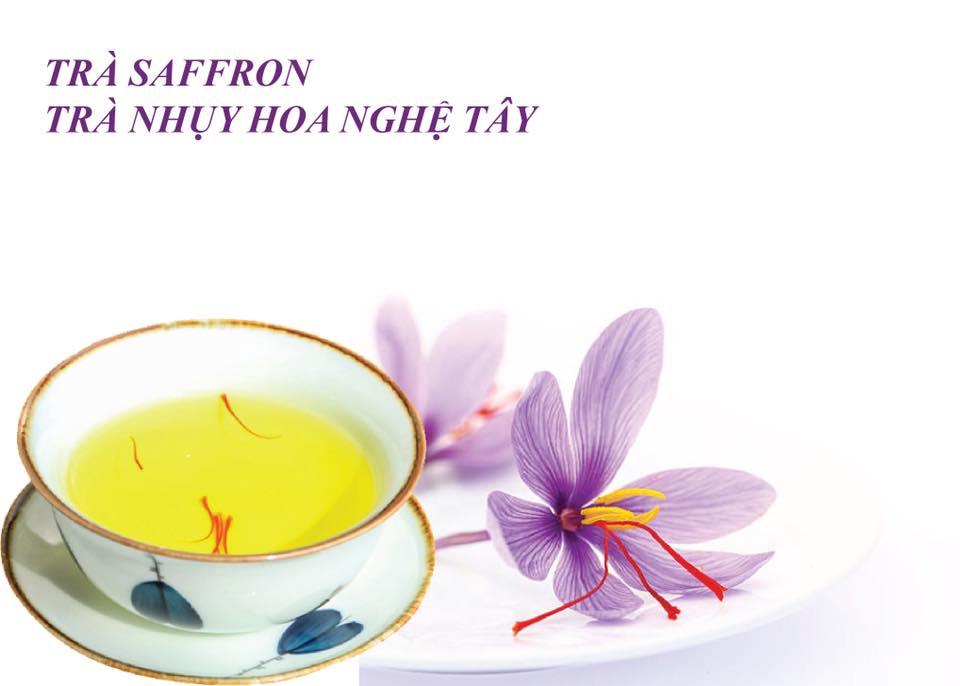 Pha Trà Saffron Hoặc Hòa Vào Nước Lọc