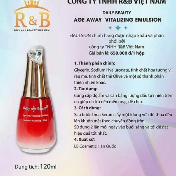Sữa dưỡng Daily Beauty Age Away Vitalizing Emulsion